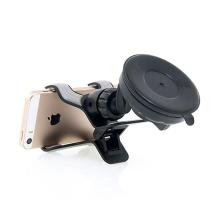 Držák do automobilu pro Apple iPhone - klipové uchycení - s přísavkou - černý