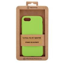 Kryt TACTICAL Velvet Smoothie pro Apple iPhone 7 / 8 / SE (2020) - příjemný na dotek - silikonový - avokádově zelený