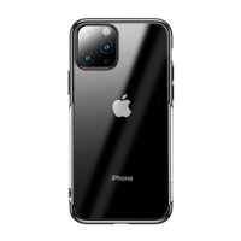 Kryt BASEUS Shining pro Apple iPhone 11 Pro - gumový - pokovený - průhledný / černý