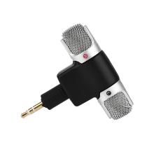 Mikrofon pro Apple iPhone / iPod / iPad / Mac - externí - stereo - 3,5mm jack - černý / stříbrný