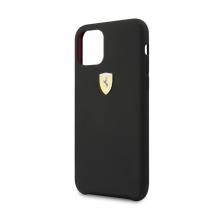 Kryt FERRARI pro Apple iPhone 11 Pro Max - 3D logo - silikonový - černý