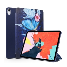 """Pouzdro pro Apple iPad Pro 11"""" - umělá kůže / silikon - funkce chytrého uspání - motýl"""