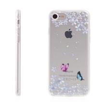 Kryt pro Apple iPhone 7 / 8 - gumový - květiny & motýli