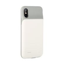 Externí baterie / kryt pro Apple iPhone X / Xs - 3000 mAh - matná - bílá