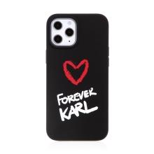 Kryt KARL LAGERFELD Forever pro Apple iPhone 12 Pro Max - silikonový - černý