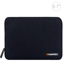"""Pouzdro se zipem HAWEEL pro Apple iPad 9,7"""" / 10,2"""" / 10,5""""- látkové - černé"""