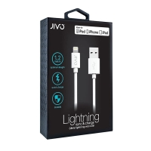 MFi certifikovaný synchronizační a nabíjecí kabel JIVO - Lightning - bílý - 1,2m