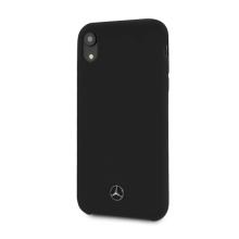 Kryt MERCEDES-BENZ pro Apple iPhone Xr - silikonový - černý