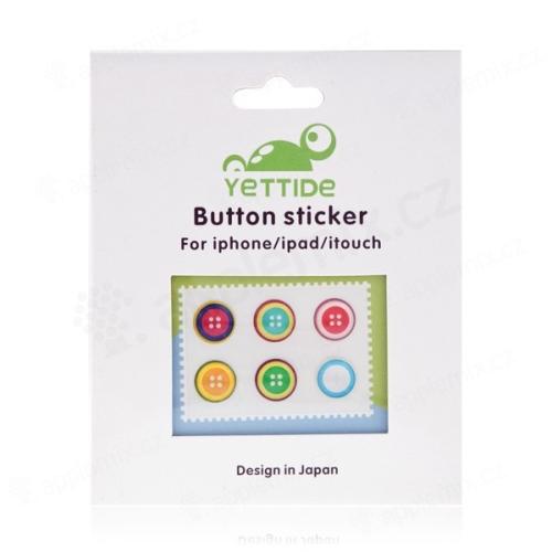 Samolepky pro tlačítko Home Button Apple iPad / iPhone / iPod (sada 6ks)