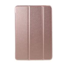 Pouzdro pro Apple iPad mini 1 / 2 / 3 - stojánek + chytré uspání - umělá kůže - Rose Gold růžové