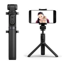 Selfie tyč / monopod + stativ / tripod XIAOMI - Bluetooth dálkové ovládání / spoušť - černá