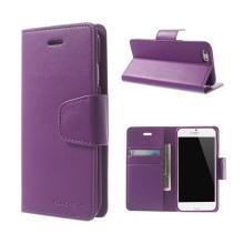 Pouzdro Mercury Sonata Diary pro Apple iPhone 6 / 6S - stojánek a prostor na doklady - fialové