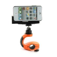 Sportovní multifunkční držák na trubku / kolo s rotační nastavitelnou vrchní částí pro Apple iPhone / iPod a podobná zařízení