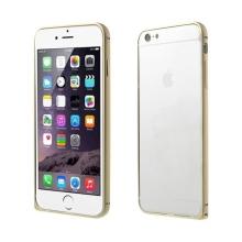 Tenký hliníkový rámeček / bumper LOVE MEI pro Apple iPhone 6 - zlatý (champagne)