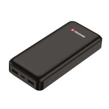 Externí baterie / power bank SWISSTEN Worx - 2x USB - 20000 mAh - černá