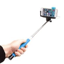 Teleskopická selfie tyč / monopod KJstar - kabelová spoušť - modrá