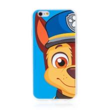"""Kryt """"Tlapková patrola"""" pro Apple iPhone 6 / 6S - gumový - Chase - modrý"""
