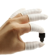 Latexové antistatické návleky na prsty pro servisní činnost (sada 10ks)