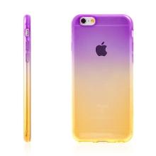 Kryt pro Apple iPhone 6 Plus / 6S Plus gumový tenký - žlutý / fialový