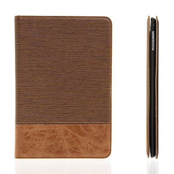 Elegantní pouzdro pro Apple iPad mini 4 - integrovaný stojánek a prostor na doklady - světle hnědé