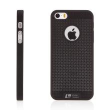 Kryt LOOPEE pro Apple iPhone 5 / 5S / SE plastový / výřez pro logo - černý