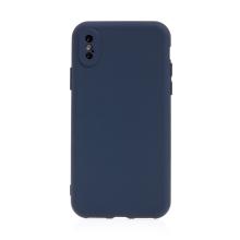 Kryt pro Apple iPhone X / Xs - příjemný na dotek - silikonový - tmavě modrý