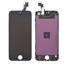 LCD panel + dotykové sklo (touch screen digitizér) pro Apple iPhone 5C - černý - kvalita A+