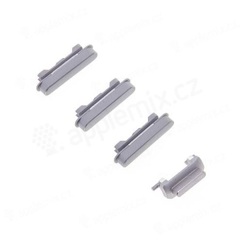 Sada postranních tlačítek / tlačítka pro Apple iPhone 6 Plus (Power + Volume + Mute) - stříbrná (Silver)