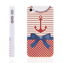 Plastový kryt pro Apple iPhone 4 / 4S - veselý námořnický obleček