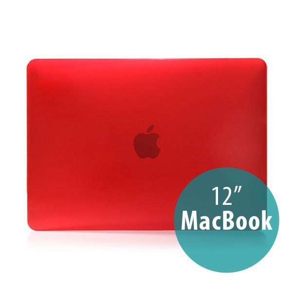 Tenký plastový obal / kryt pro Apple MacBook 12 Retina (rok 2015) - lesklý - červený