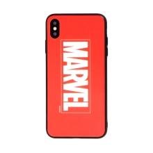 Kryt MARVEL pro Apple iPhone Xs Max - sklo / guma