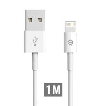 Synchronizační a nabíjecí kabel Lightning DEVIA pro Apple iPhone / iPad / iPod - bílý - 1m