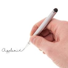 2v1 dotykové pero / stylus + propiska - stříbrné