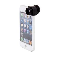 Multifunkční objektiv 3v1 pro Apple iPhone 5 / 5S / SE - 180° rybí oko / 0,67x širokoúhlý objektiv / makro objektiv - černý