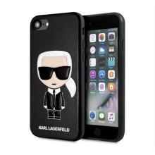 Kryt KARL LAGERFELD  Iconic pro Apple iPhone 7 / 8 / SE (2020) - umělá kůže - černý