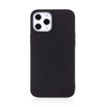 Kryt FORCELL Soft pro Apple iPhone 12 / 12 Pro - gumový - černý