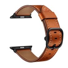 Řemínek pro Apple Watch 45mm / 44mm / 42mm - kožený - hnědý
