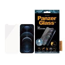 Tvrzené sklo (Tempered Glass) PANZERGLASS pro Apple iPhone 12 Pro Max - čiré - antibakteriální - 0,4mm