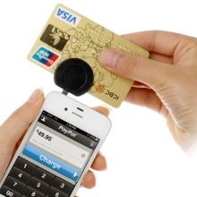 Čtečka platebních karet s 3,5 mm jack konektorem pro smartphony s operačním systémem iOS a Android - černá