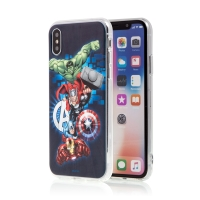 Kryt MARVEL pro Apple iPhone X / Xs - Hulk - gumový
