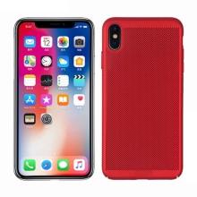 Kryt MOFi pro Apple iPhone Xs Max - perforovaný / s otvory - plastový - červený