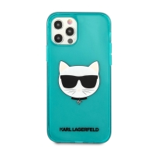 Kryt KARL LAGERFELD Choupette pro Apple iPhone 12 / 12 Pro - gumový - modrý