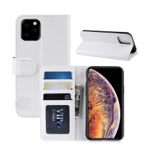 Pouzdro pro Apple iPhone XI Max - prostor pro platební karty - umělá kůže - bílé