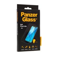 Tvrzené sklo (Tempered Glass) PANZERGLASS pro Apple iPhone Xs Max - 3D hrana - černé - 0,4mm