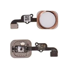 Obvod tlačítka Home Button + kovový rámeček + tlačítko Home Button pro Apple iPhone 6S / 6S Plus - růžově zlaté - kvalita A+