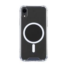 Kryt pro Apple iPhone Xr - zesílené rohy - MagSafe magnety - plastový / gumový - průhledný