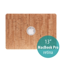 Obal / kryt pro Apple MacBook Pro 13 Retina (model A1425, A1502) - plastový tenký / potah umělá kůže - hnědý