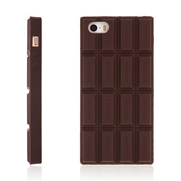 Silikonový kryt pro Apple iPhone 5 / 5S / SE - voňavá čokoláda