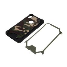 Kryt pro Apple iPhone Xs Max - maskáčový vzor - gumový - černý / khaki zelený