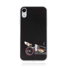 Kryt HOT WHEELS - pro Apple iPhone Xr - gumový - formule - černý